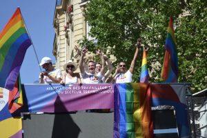 Particpation au char GayTech à la Gay Pride de Paris
