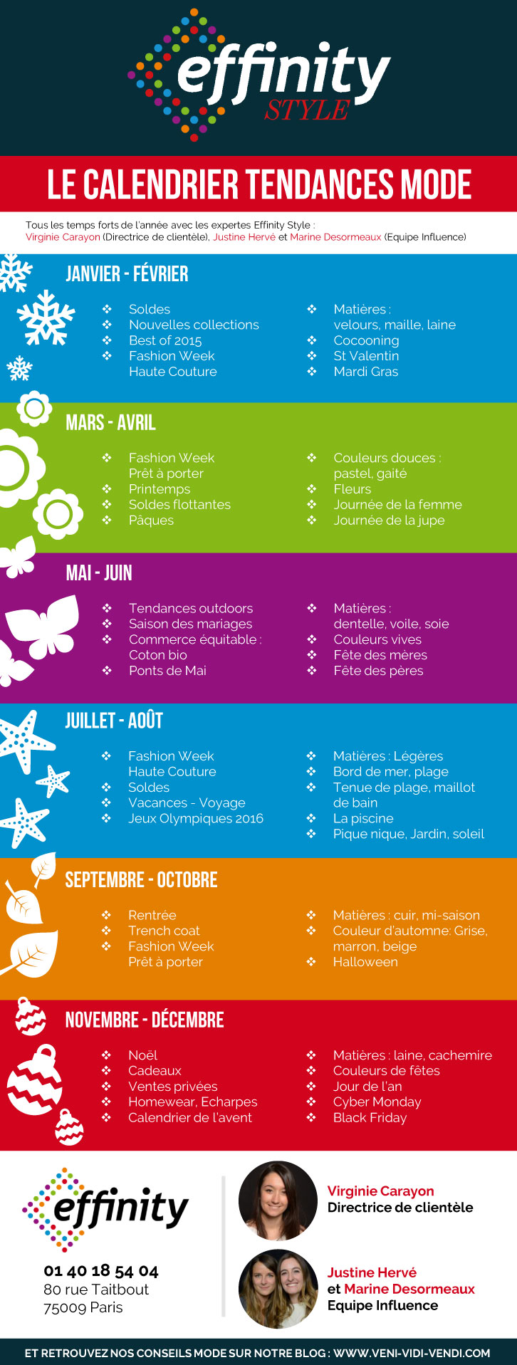 calendrier mode e-marchand