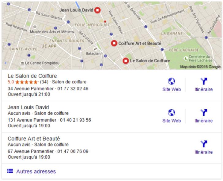 effilocal google local