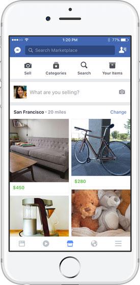 marketplace facebook mobile