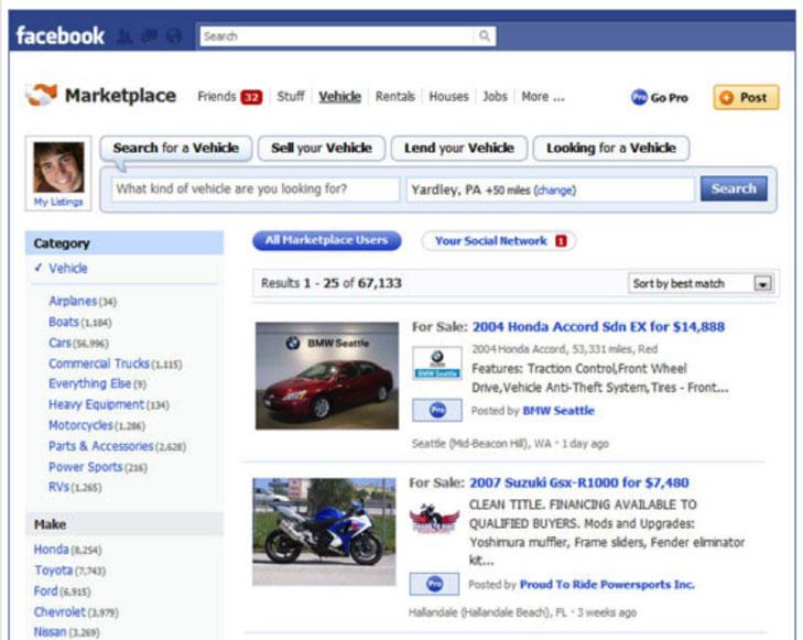 marketplace facebook place de marché